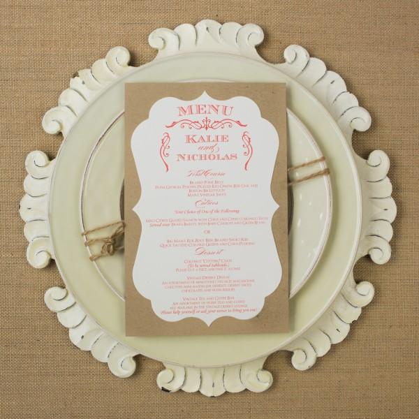 rustic wedding dinner menus