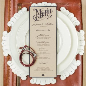 vintage wedding menus