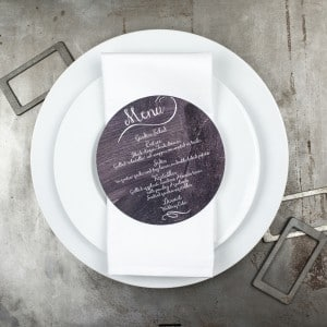 chalkboard wedding menus