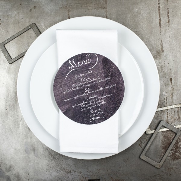 chalkboard wedding menus