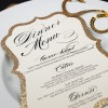 glitter wedding menus
