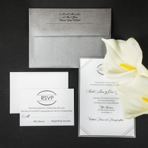 chic modern wedding invitations
