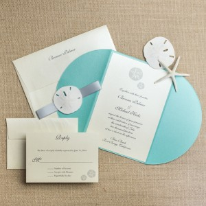 sand dollar wedding invitations