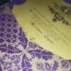 plum and gold wedding invitations