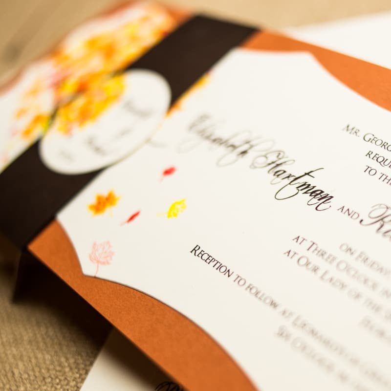 Unique Fall Wedding Invitations Too Chic Little Shab Design