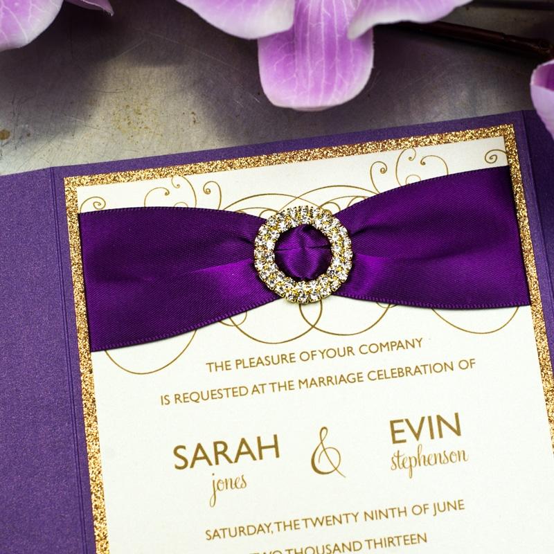 Radiant Orchid Wedding Invitations Too Chic Little Shab Design
