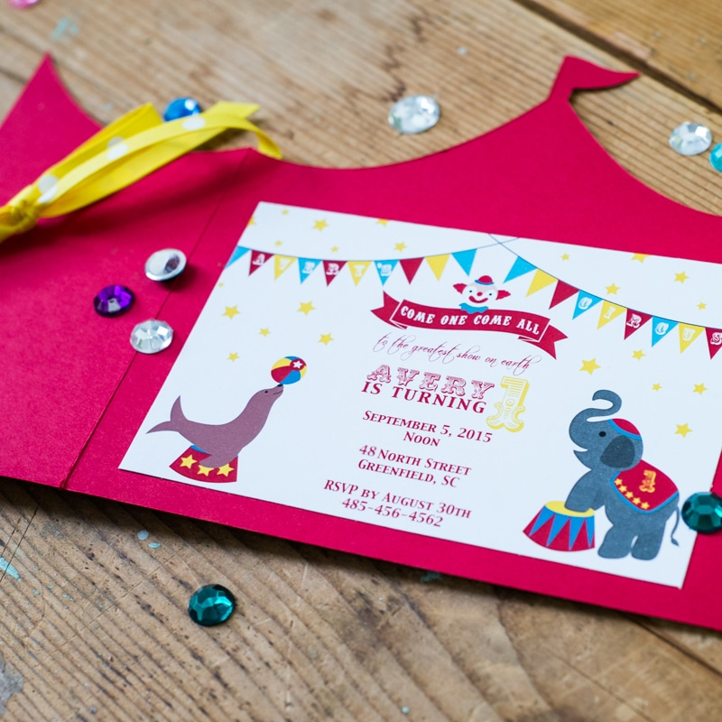 Circus Tent Invitations & Circus Tent Invitations - Too Chic u0026 Little Shab Design Studio Inc.