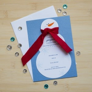 snowman birthday invitations