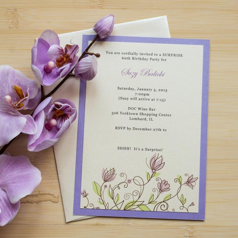 Floral Birthday Invitations - Too Chic & Little Shab Design Studio, Inc.