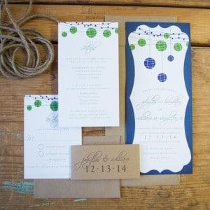 rustic lantern wedding invitations