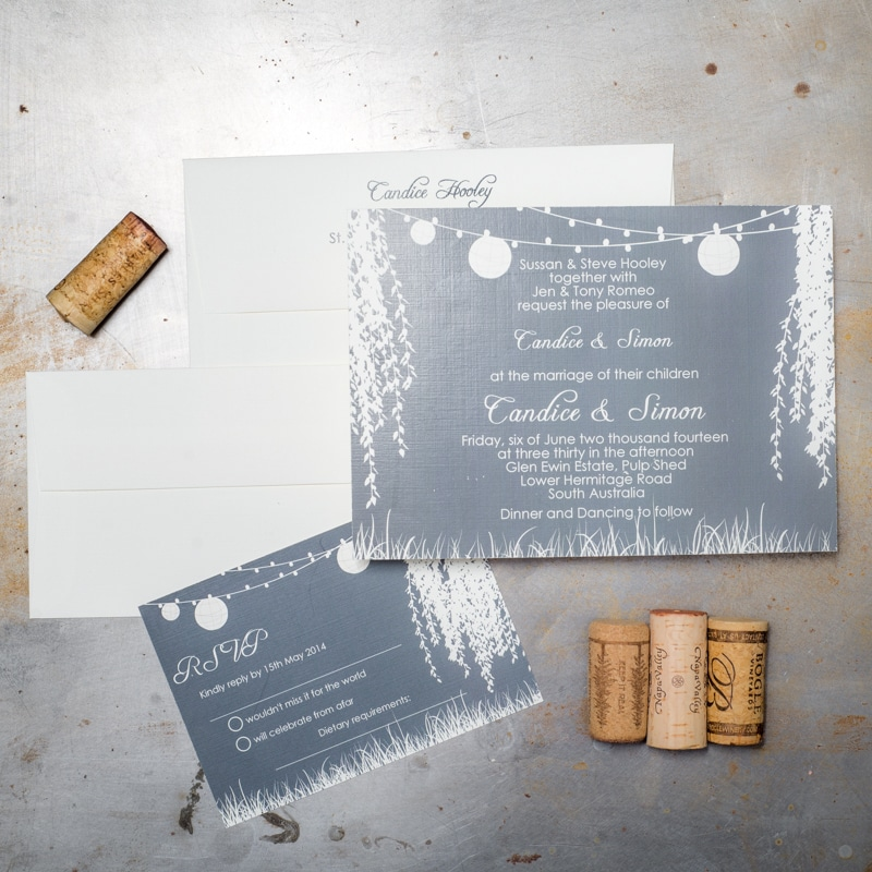 Weeping Willow Tree Wedding Invitations - Too Chic & Little Shab ...
