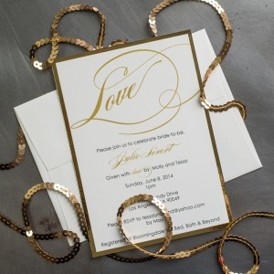 love bridal shower invitations