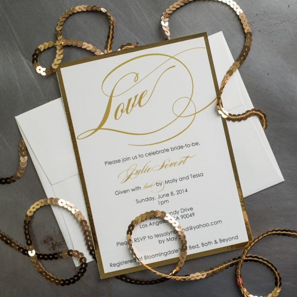 love bridal shower invitations