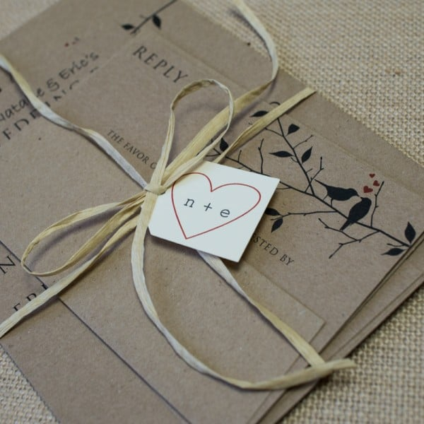 raffia wedding invitations