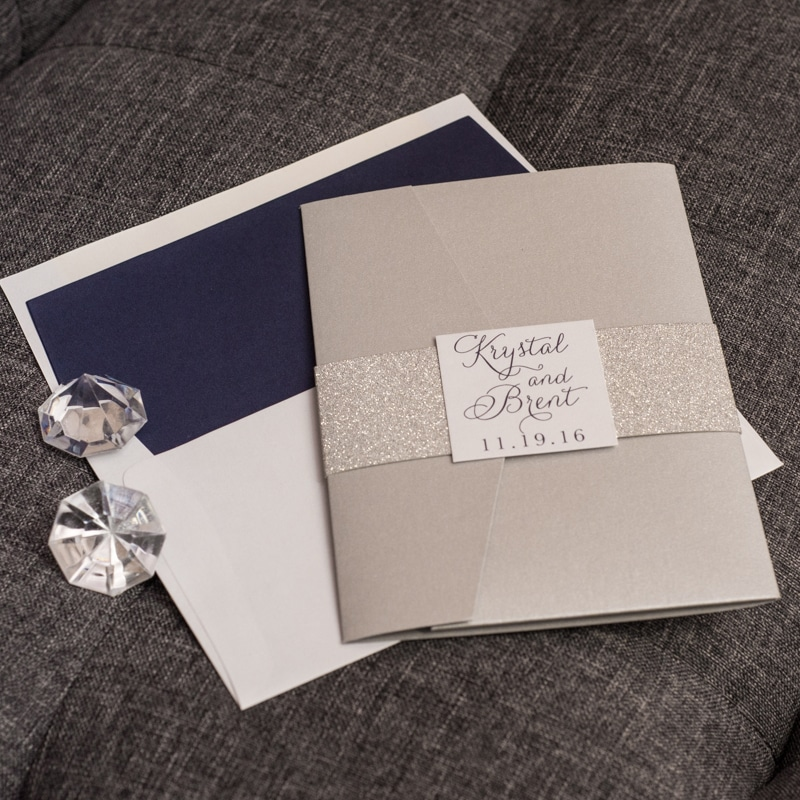 glam wedding invitation