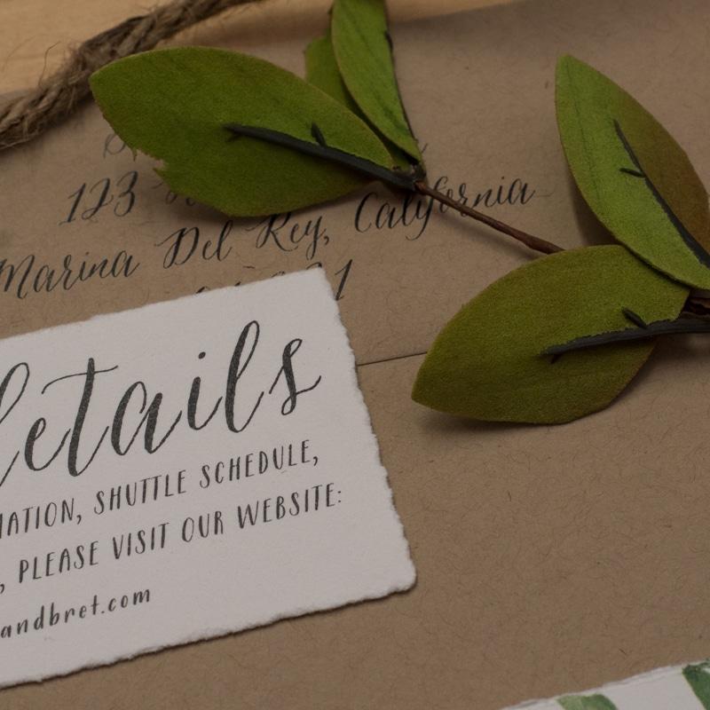 hand torn wedding invitations