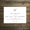 monogram save the date card