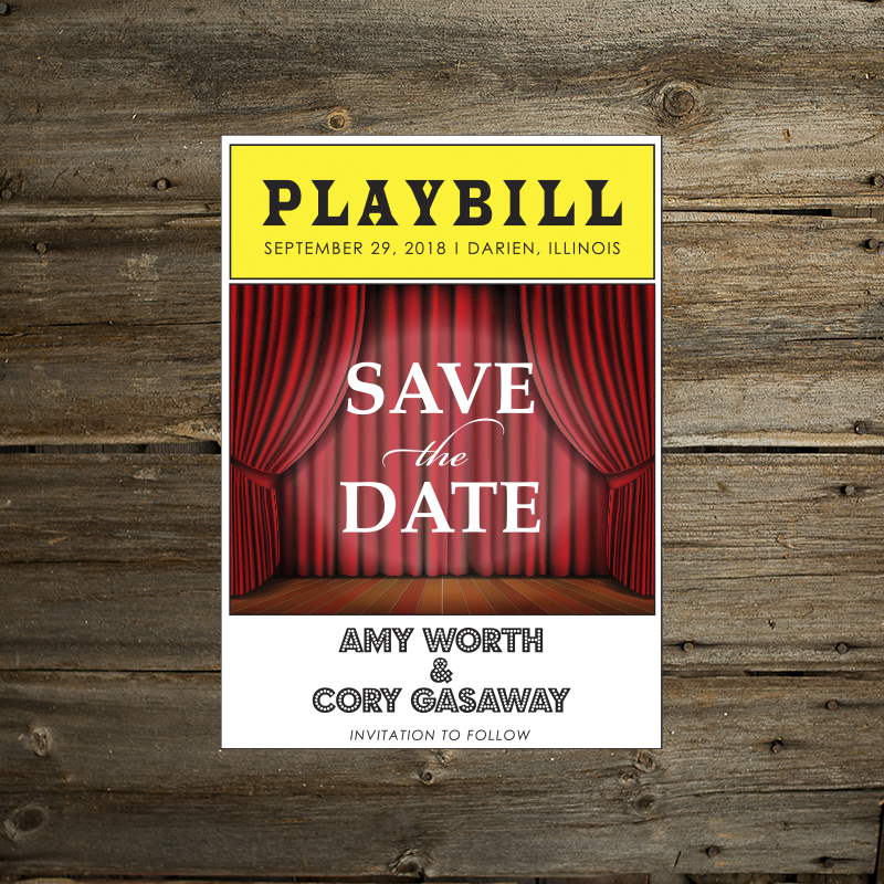 playbill save the date