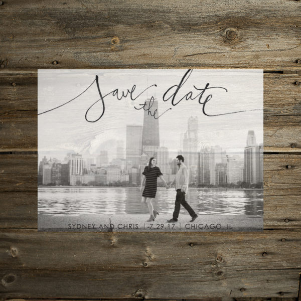 calligraphic save the date