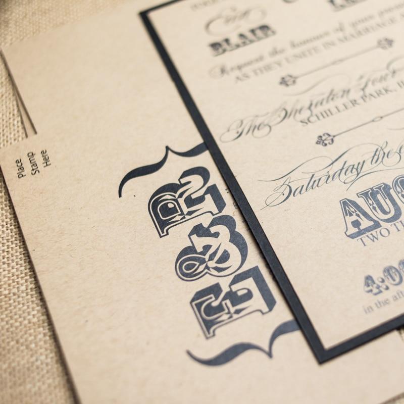 Kraft Wedding Invitations - Too Chic & Little Shab Design Studio, Inc.