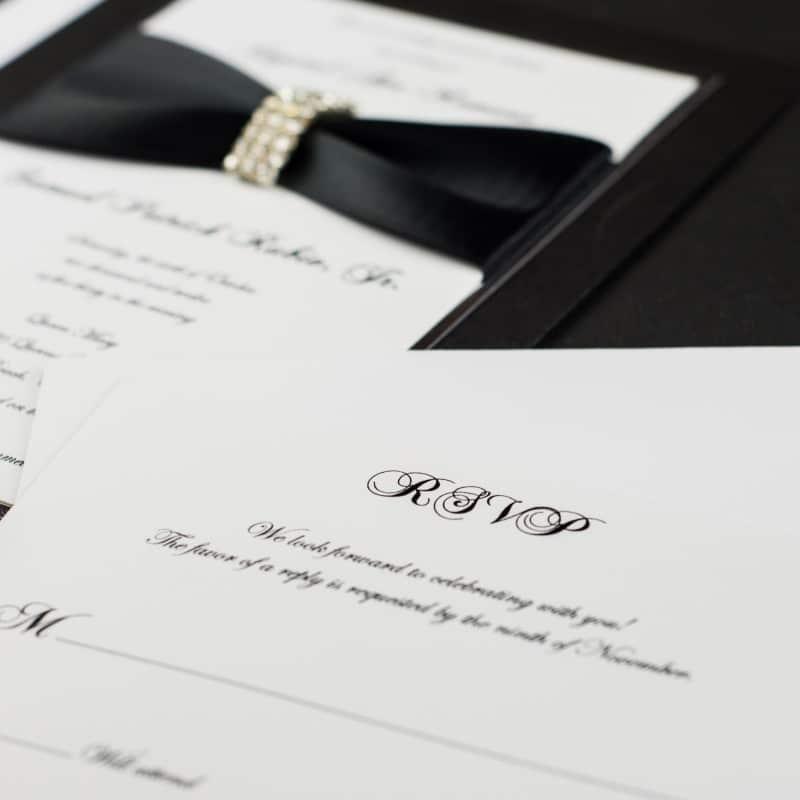 Classic Wedding Invitations - Too Chic & Little Shab Design Studio, Inc.