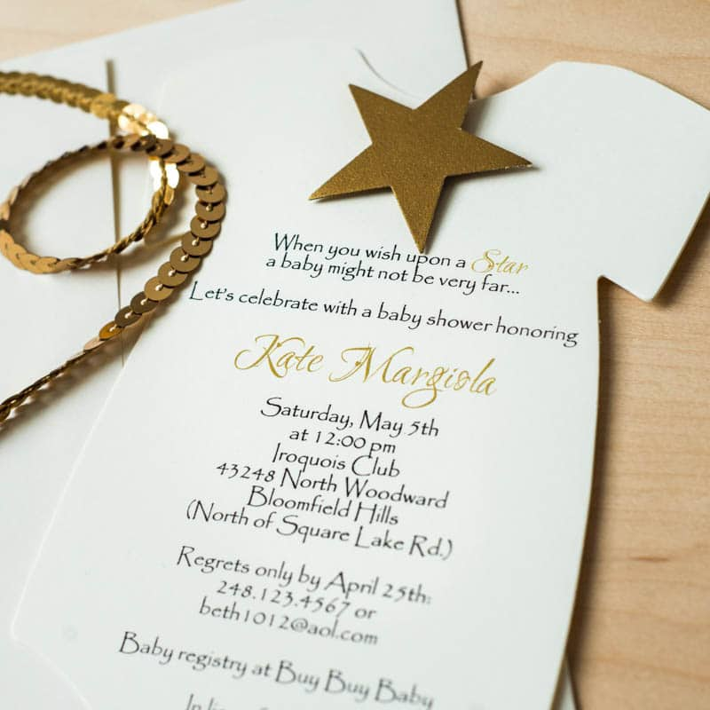 Star Baby Shower Invitations - Too Chic & Little Shab Design Studio ...