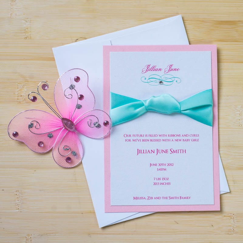 Tiffany Baby Shower Invitations - Too Chic & Little Shab Design ...