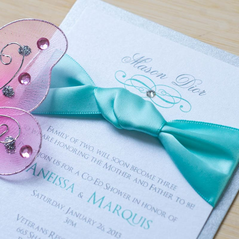 Tiffany Baby Shower Invitations - Too Chic & Little Shab Design ...
