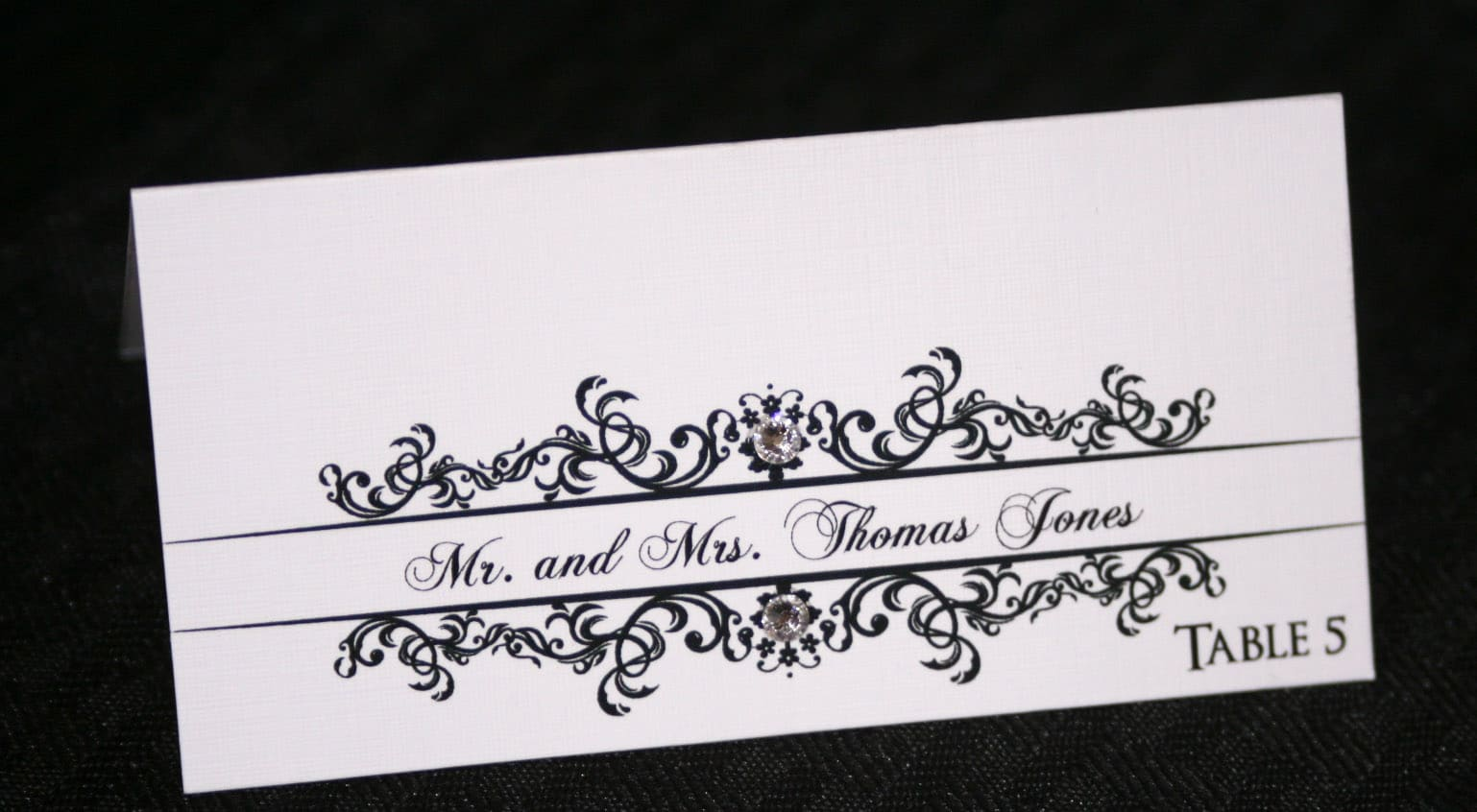 Classic wedding place cards too chic little shab for Place cards for wedding