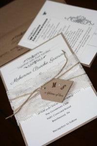 Shabby Chic Wedding Invitations 8