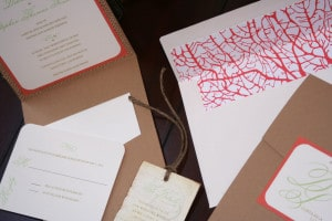 Vintage Destination Wedding Invitations 2