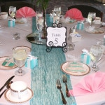 Tiffanys Bridal Shower Table Numbers 5