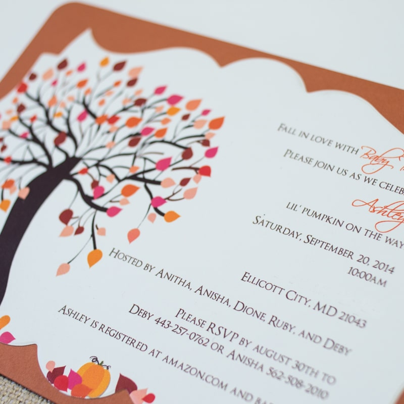 Lil Pumpkin Baby Shower Invitations