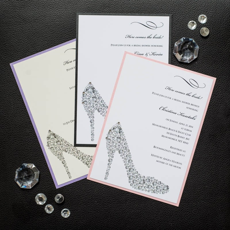Shoe Bridal Shower Invitations - Too Chic & Little Shab Design ...