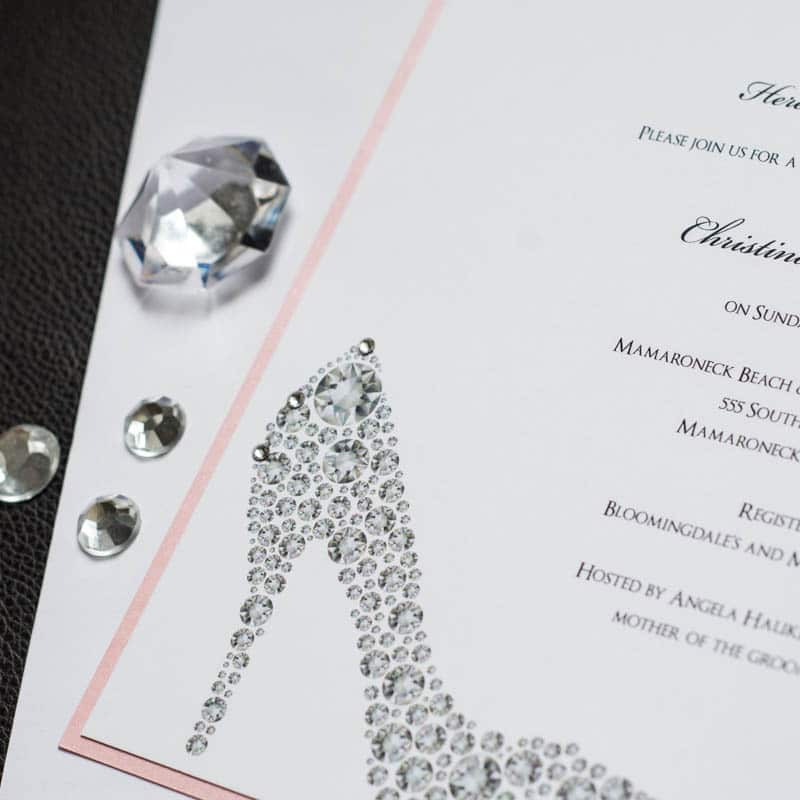 Shoe bridal shower invitations too chic little shab design shoe bridal shower invitations filmwisefo