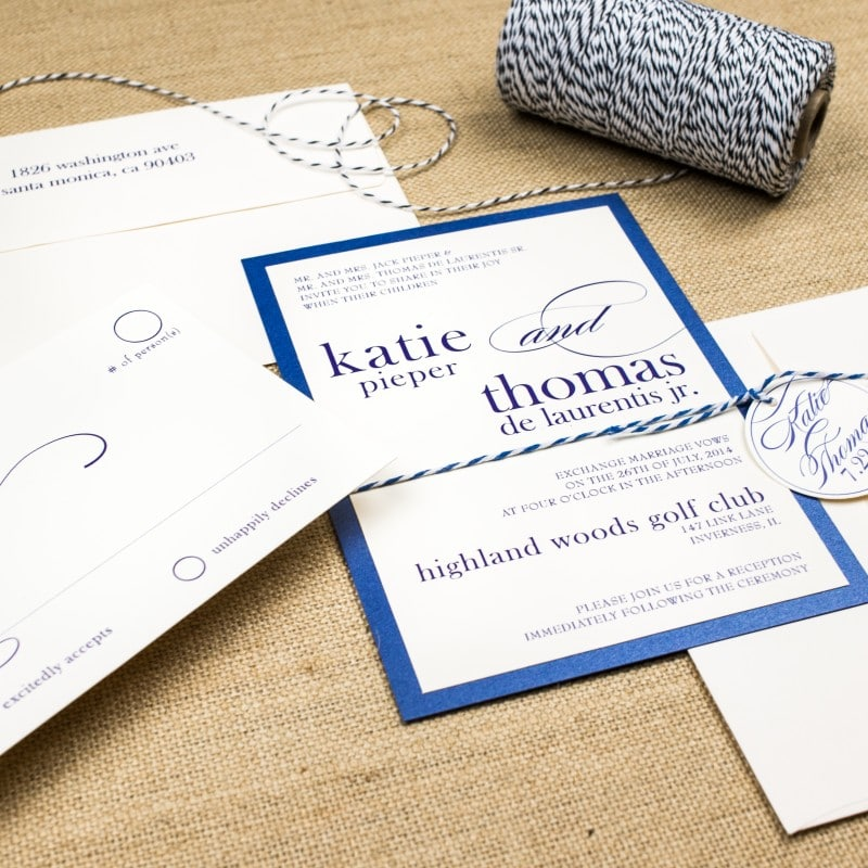 Bakers Twine Wedding Invitations Too Chic Little Shab Design