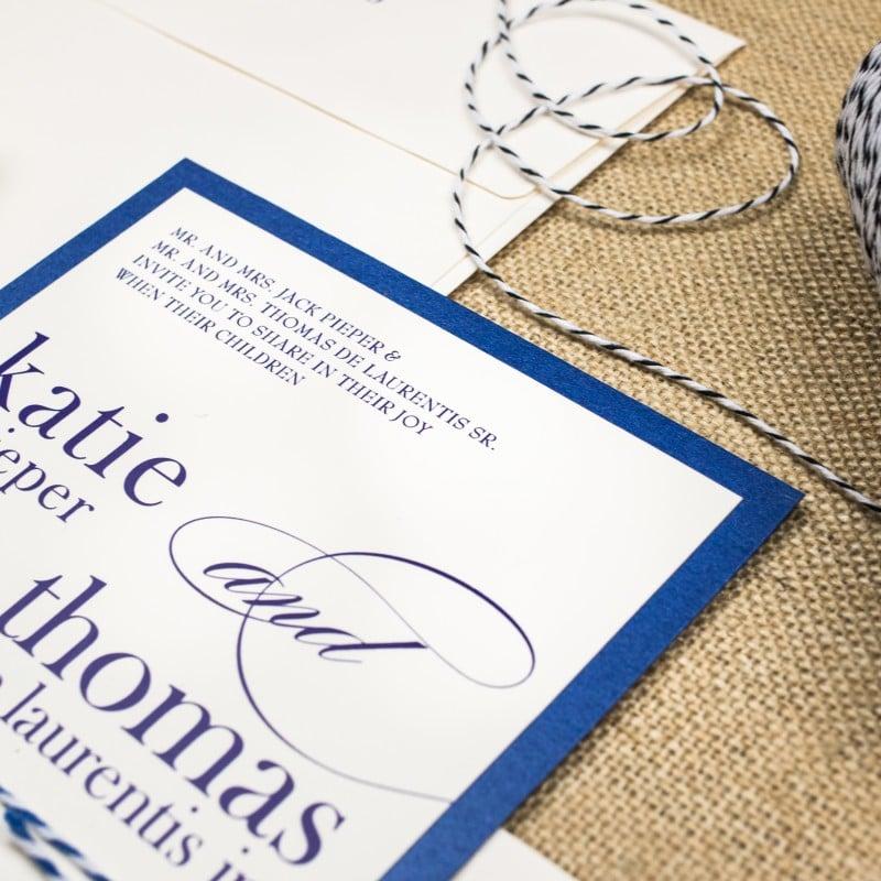 Bakers Twine Wedding Invitations - Too Chic & Little Shab Design ...