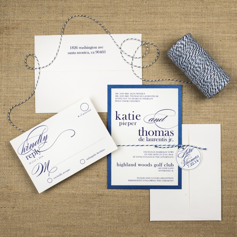 Bakers Twine Wedding Invitations - Too Chic & Little Shab Design ...