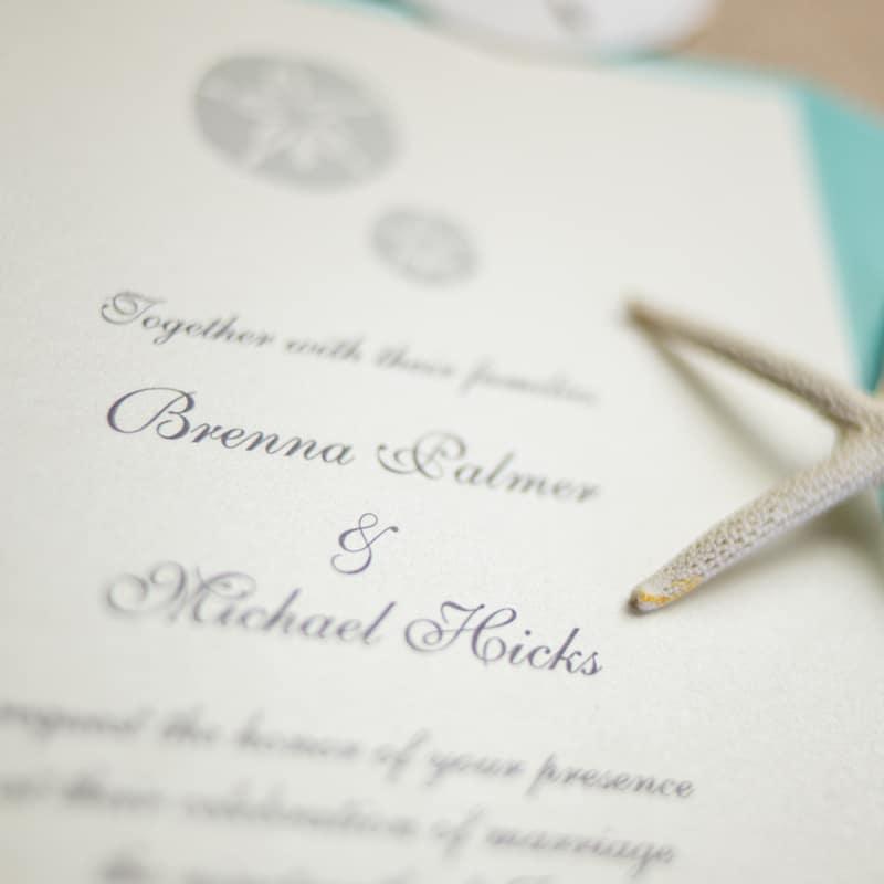Well known Sand Dollar Wedding Invitations - Too Chic & Little Shab Design  QL73