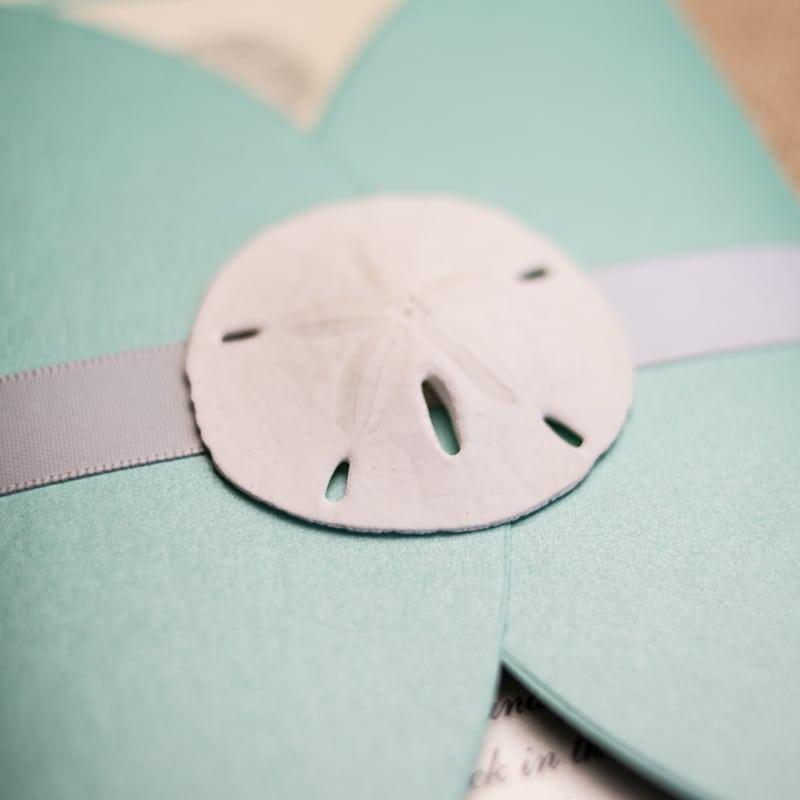 Brand-new Sand Dollar Wedding Invitations - Too Chic & Little Shab Design  BJ66