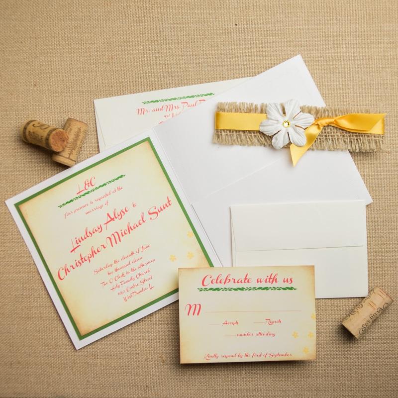 Boho Chic Wedding Invitations - Too Chic & Little Shab Design ...