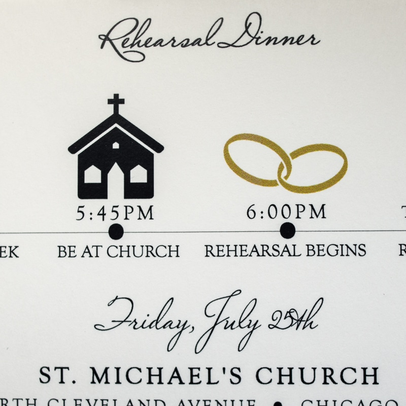 Fun Rehearsal Dinner Invitations  Too Chic  Little Shab Design