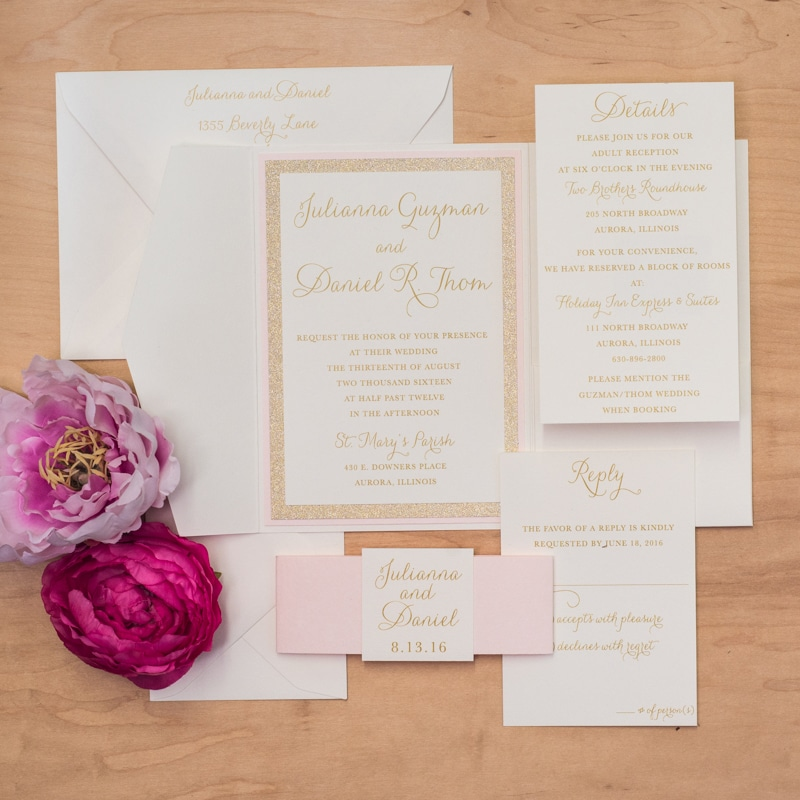 glitz wedding invitation