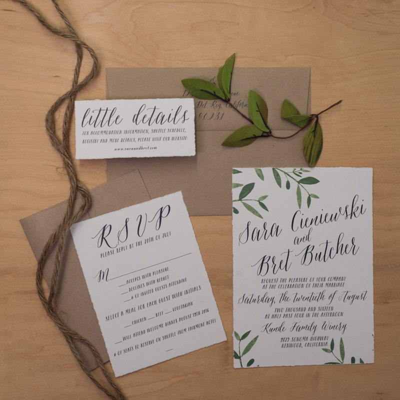 calligraphic invitations