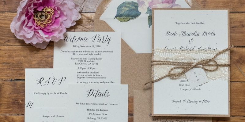 Rustic Chic And Rustic Vineyard Wedding Invitations